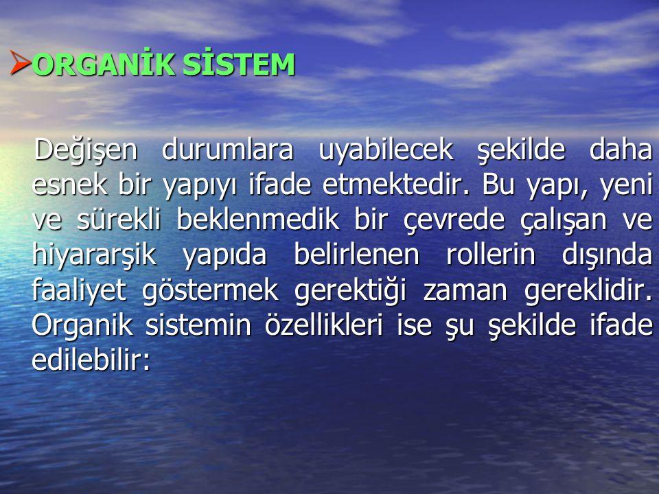 ORGANİK SİSTEM