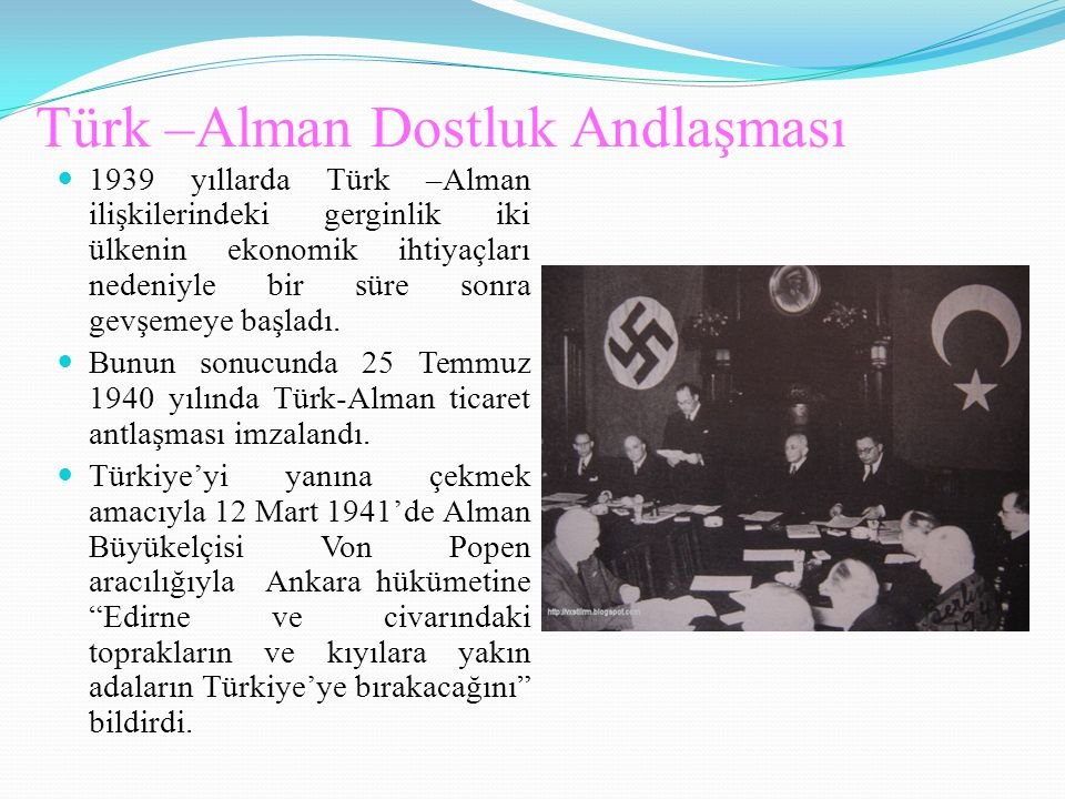 Türk –Alman Dostluk Andlaşması
