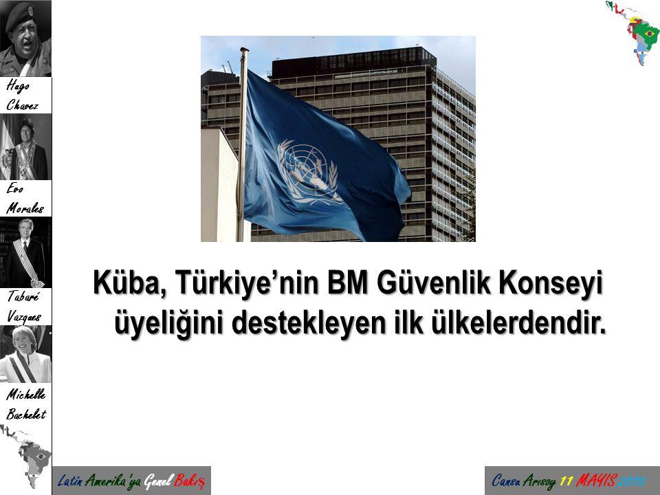 Küba, Türkiye'nin BM Güvenlik Konseyi üyeliğini destekleyen ilk ülkelerdendir.