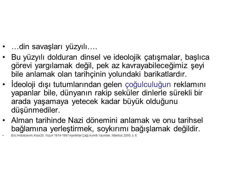 …din savaşları yüzyılı….
