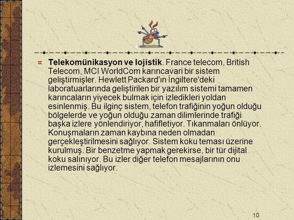 Telekomünikasyon ve lojistik