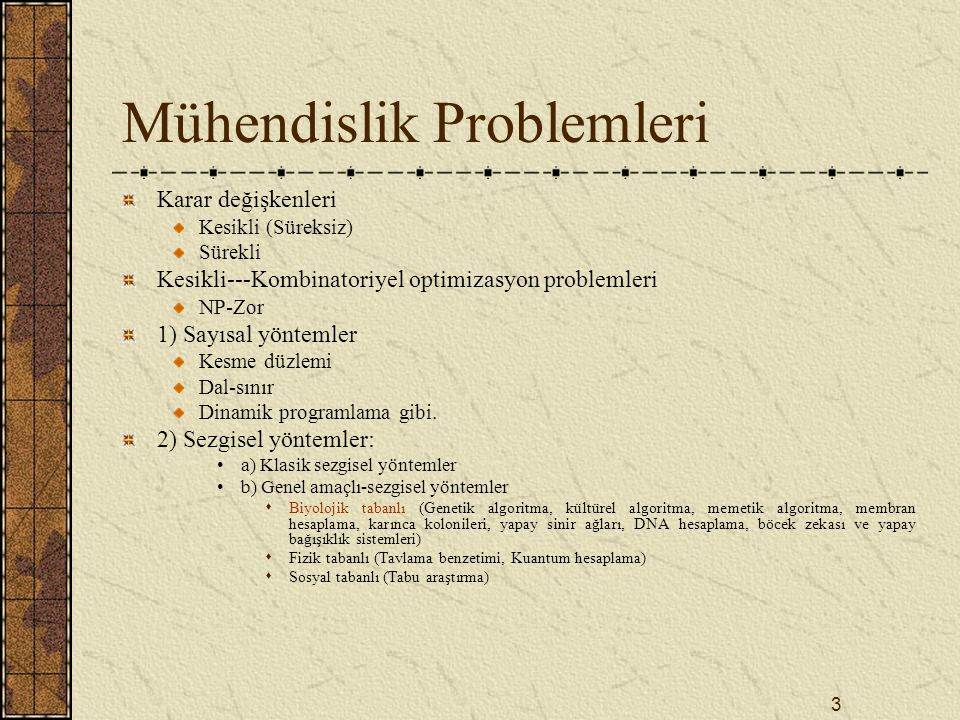 Mühendislik Problemleri