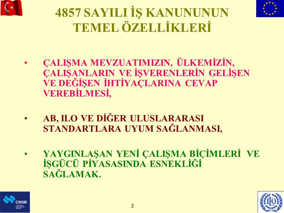 4857 SAYILI İŞ KANUNUNUN TEMEL ÖZELLİKLERİ