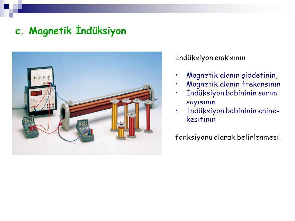 c. Magnetik İndüksiyon İndüksiyon emk'sının
