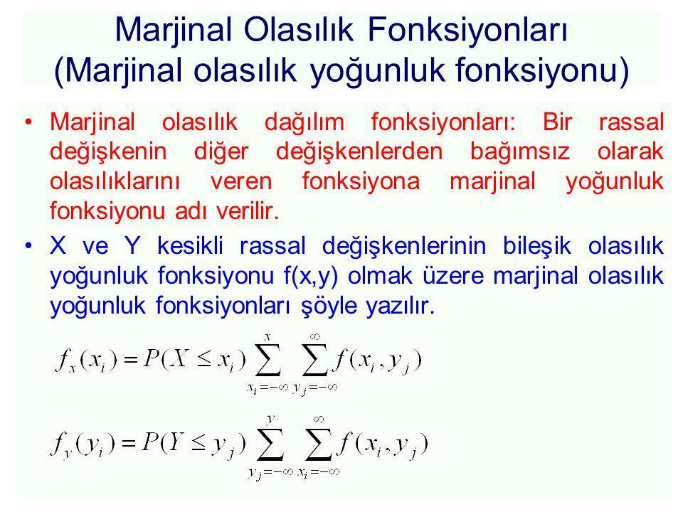 Marjinal Olasılık Fonksiyonları (Marjinal olasılık yoğunluk fonksiyonu)
