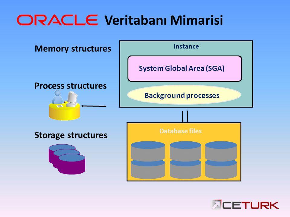 Veritabanı Mimarisi Memory structures Process structures