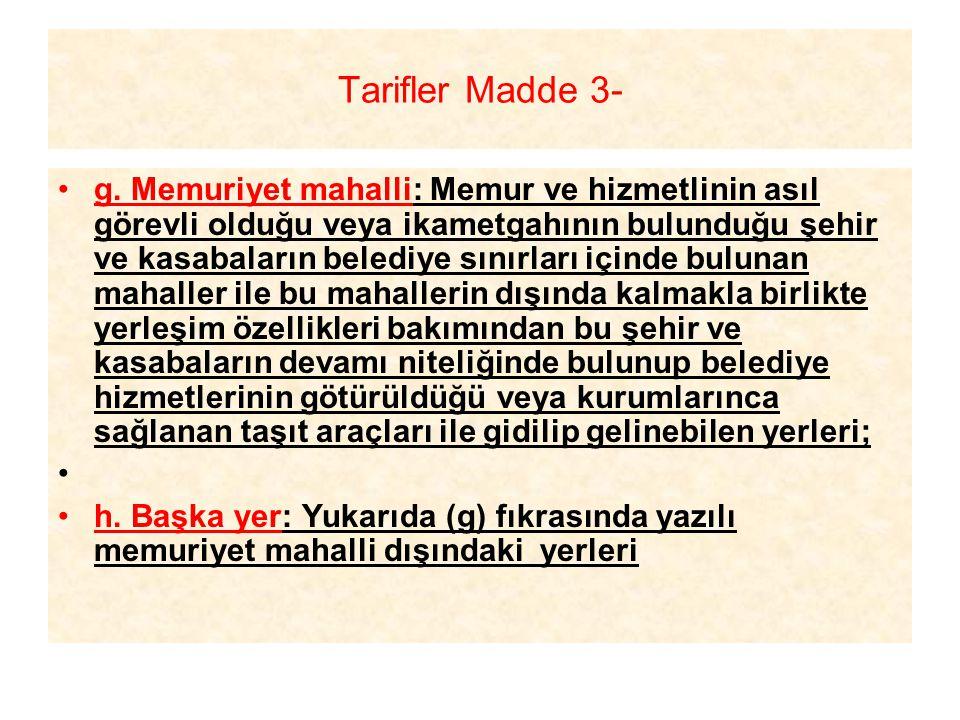 Tarifler Madde 3-