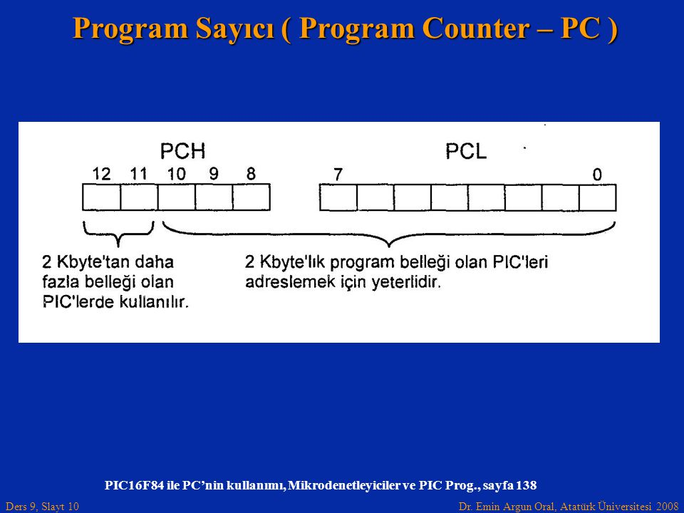 Program Sayıcı ( Program Counter – PC )