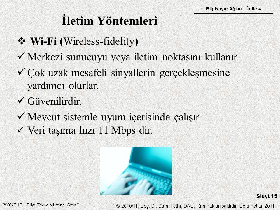 İletim Yöntemleri Wi-Fi (Wireless-fidelity)