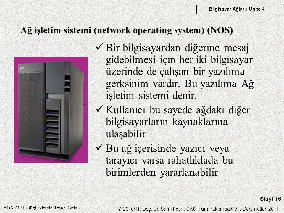 Ağ işletim sistemi (network operating system) (NOS)