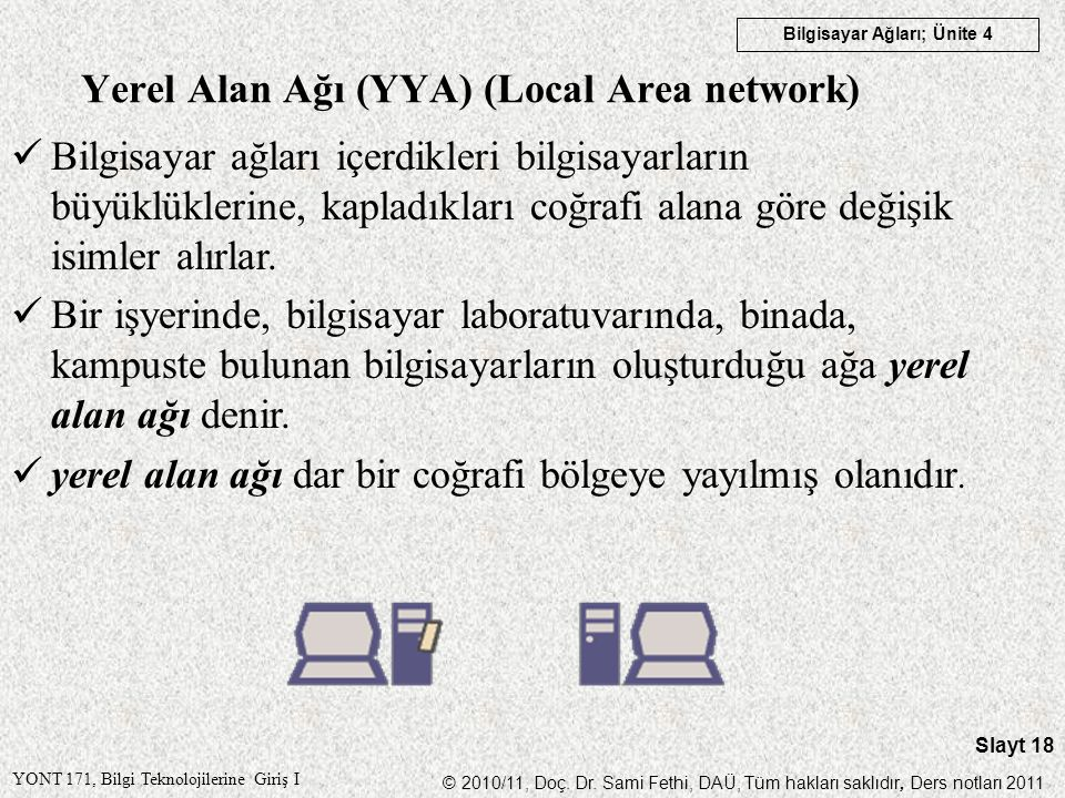 Yerel Alan Ağı (YYA) (Local Area network)