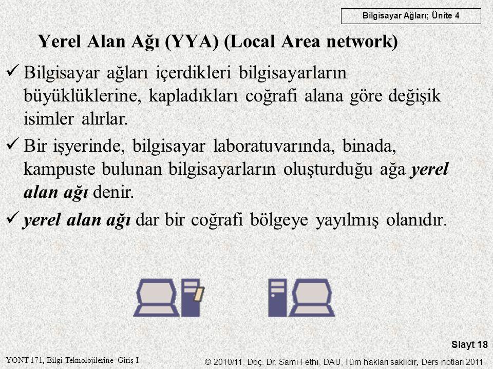 Yerel Alan Ağı (YYA) (Local Area network)