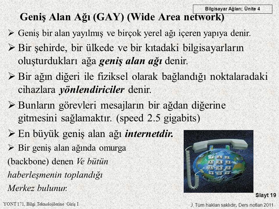 Geniş Alan Ağı (GAY) (Wide Area network)