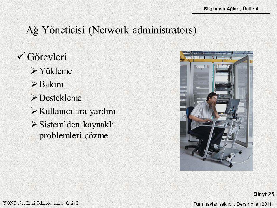 Ağ Yöneticisi (Network administrators)
