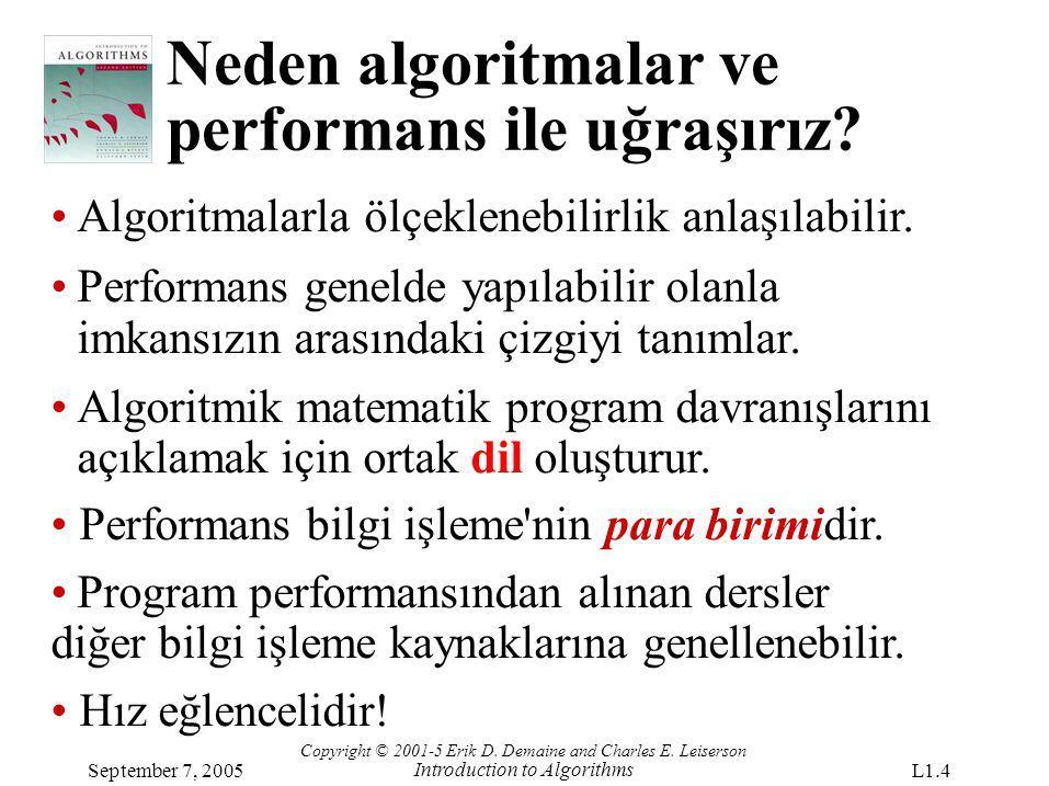 Neden algoritmalar ve performans ile uğraşırız