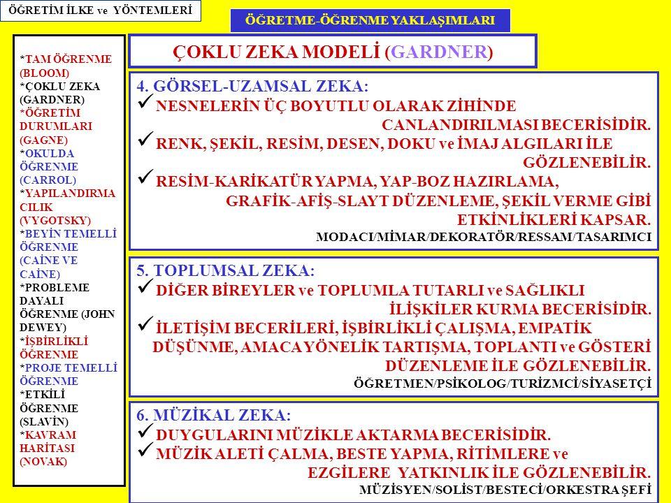 ÇOKLU ZEKA MODELİ (GARDNER)