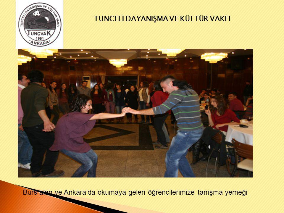 Burs alan ve Ankara'da okumaya gelen öğrencilerimize tanışma yemeği