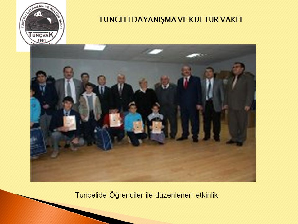 Tuncelide Öğrenciler ile düzenlenen etkinlik