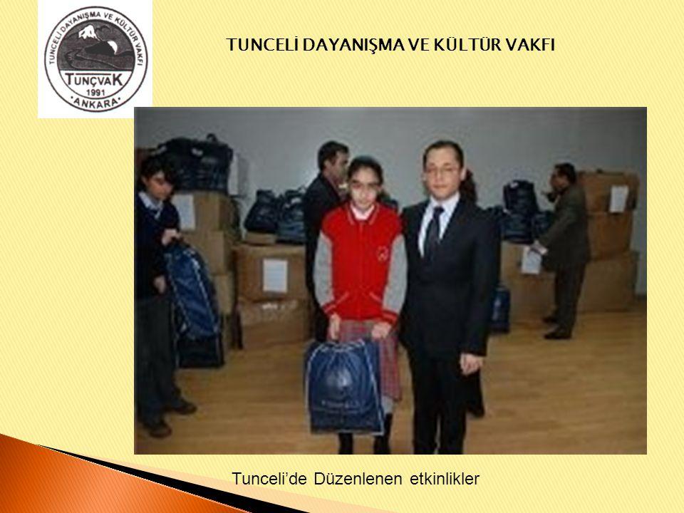 Tunceli'de Düzenlenen etkinlikler