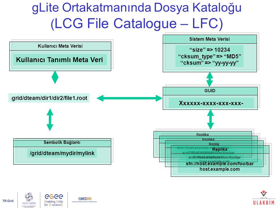 gLite Ortakatmanında Dosya Kataloğu (LCG File Catalogue – LFC)