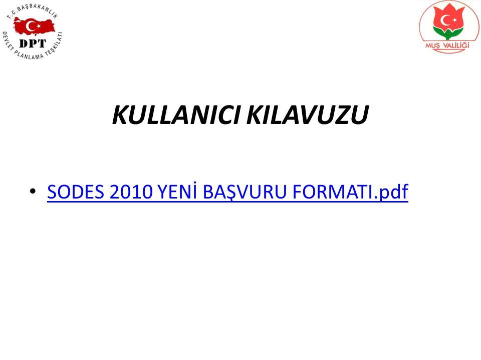 KULLANICI KILAVUZU SODES 2010 YENİ BAŞVURU FORMATI.pdf