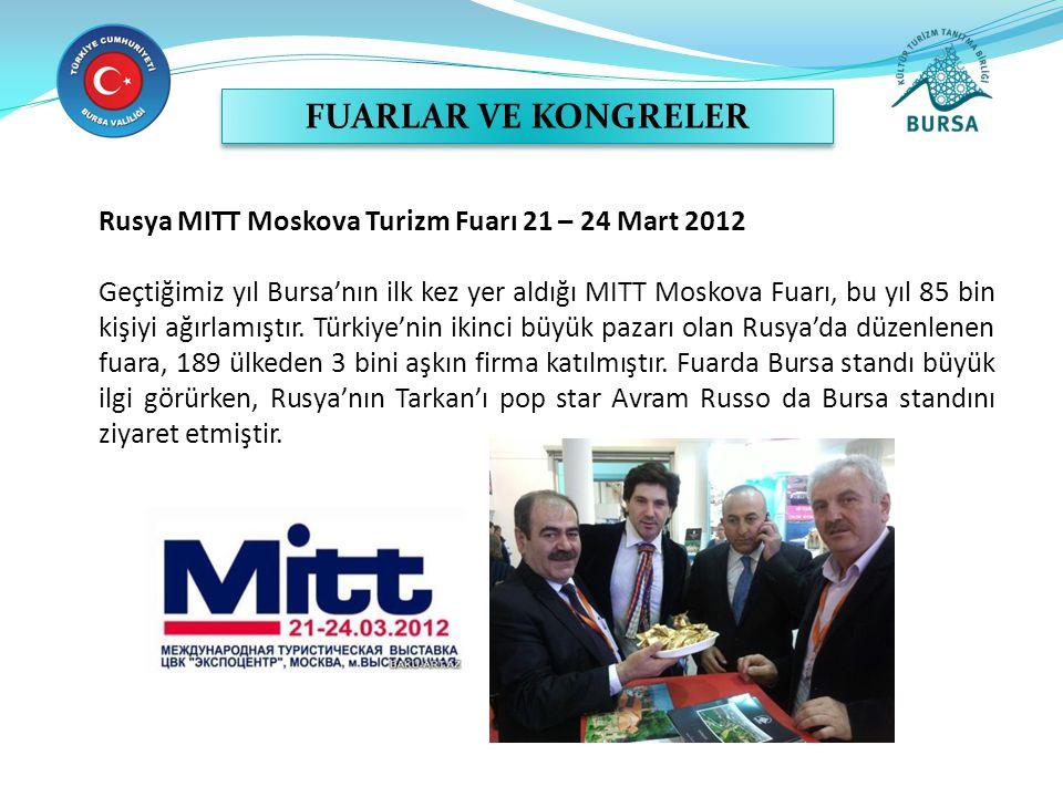 FUARLAR VE KONGRELER Rusya MITT Moskova Turizm Fuarı 21 – 24 Mart 2012