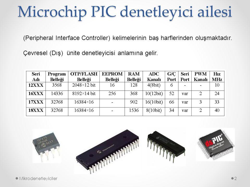 Microchip PIC denetleyici ailesi