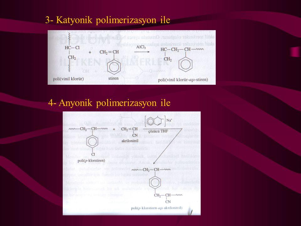3- Katyonik polimerizasyon ile
