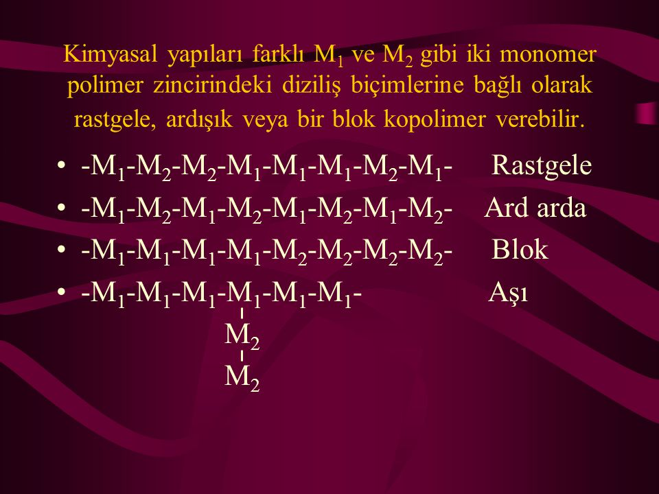 -M1-M2-M2-M1-M1-M1-M2-M1- Rastgele -M1-M2-M1-M2-M1-M2-M1-M2- Ard arda