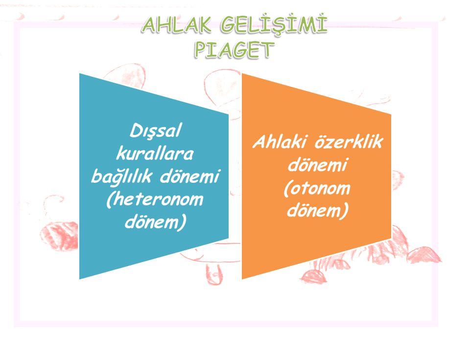 AHLAK GELİŞİMİ PIAGET.