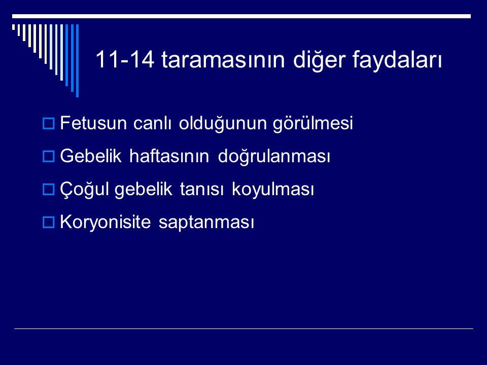 11-14 taramasının diğer faydaları