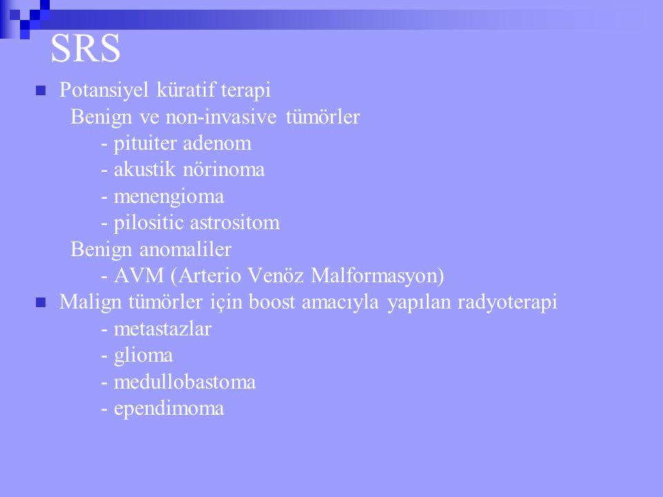 SRS Potansiyel küratif terapi Benign ve non-invasive tümörler