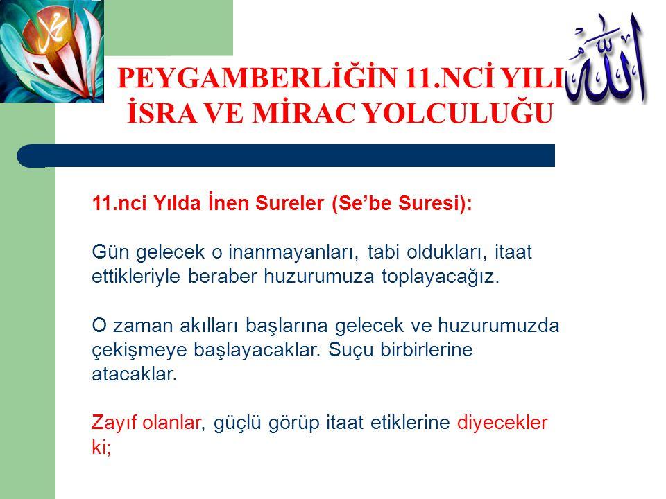 PEYGAMBERLİĞİN 11.NCİ YILI İSRA VE MİRAC YOLCULUĞU