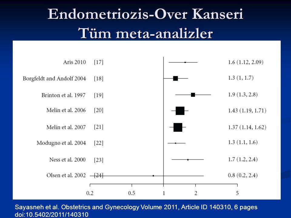 Endometriozis-Over Kanseri Tüm meta-analizler