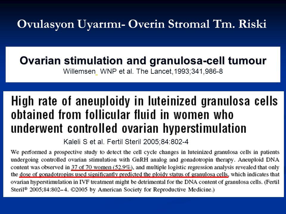 Ovulasyon Uyarımı- Overin Stromal Tm. Riski