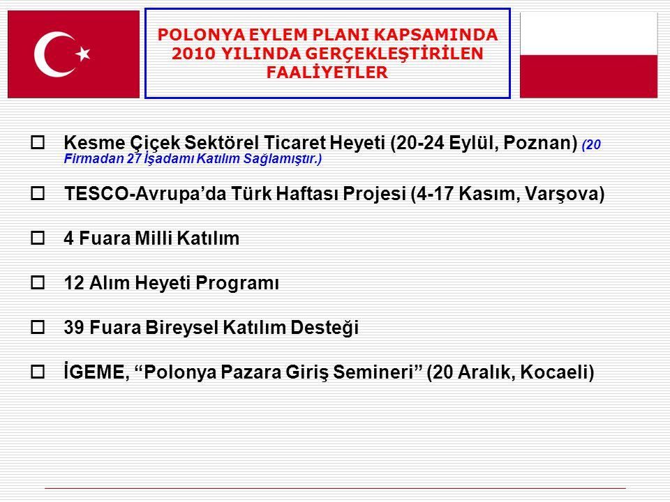 TESCO-Avrupa'da Türk Haftası Projesi (4-17 Kasım, Varşova)