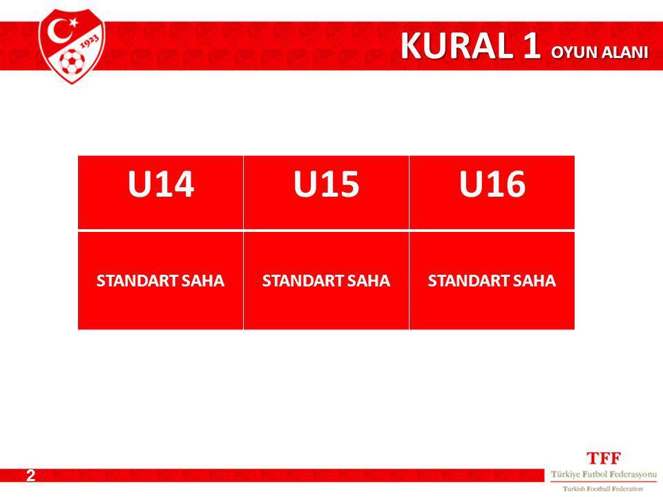 KURAL 1 OYUN ALANI U14 U15 U16 STANDART SAHA 2
