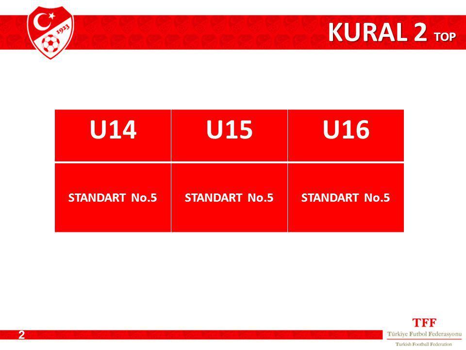 KURAL 2 TOP U14 U15 U16 STANDART No.5 2