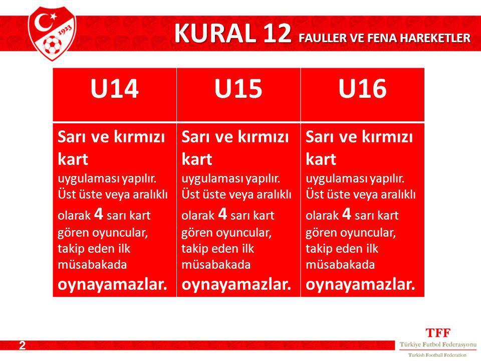 KURAL 12 FAULLER VE FENA HAREKETLER