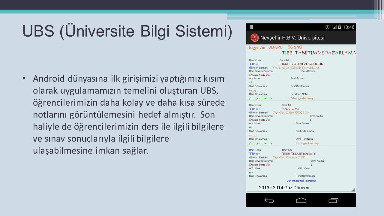 UBS (Üniversite Bilgi Sistemi)