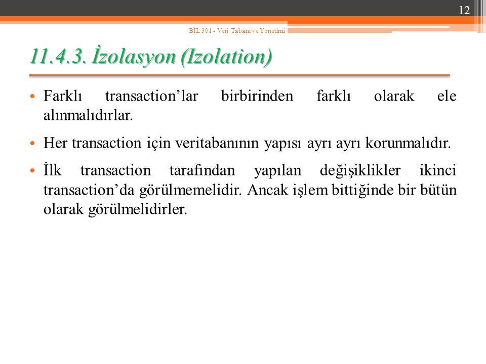 11.4.3. İzolasyon (Izolation)