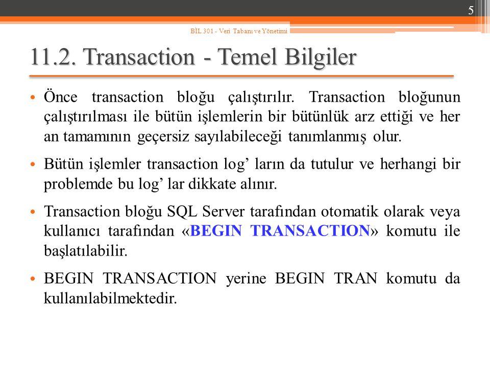 11.2. Transaction - Temel Bilgiler