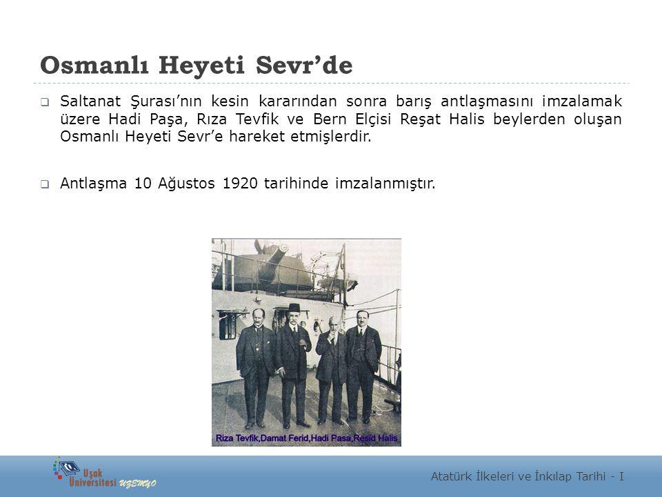 Osmanlı Heyeti Sevr'de