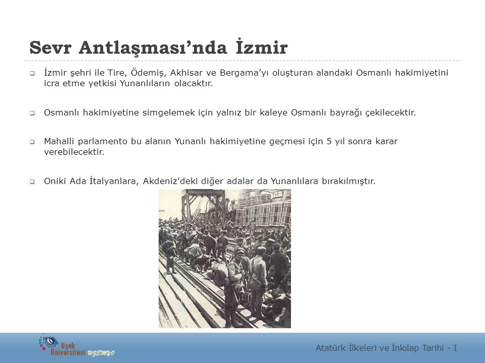 Sevr Antlaşması'nda İzmir