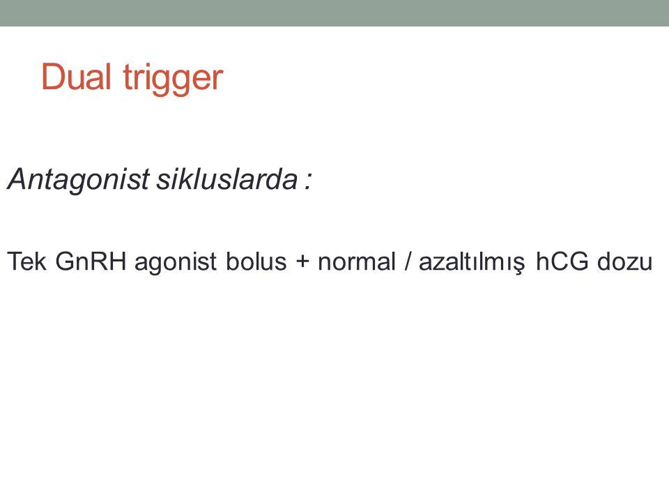 Dual trigger Antagonist sikluslarda :