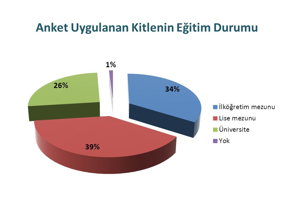 Anket Uygulanan Kitlenin Eğitim Durumu