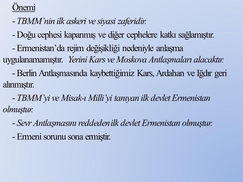 Önemi - TBMM'nin ilk askeri ve siyasi zaferidir