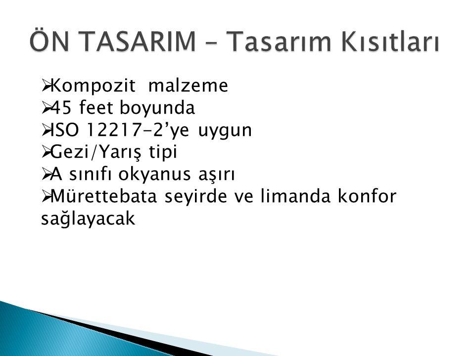 ÖN TASARIM – Tasarım Kısıtları