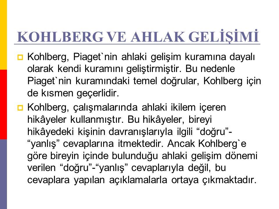 KOHLBERG VE AHLAK GELİŞİMİ