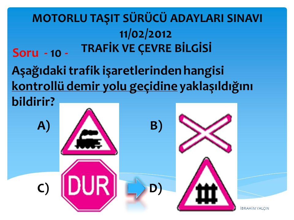 Aşağıdaki trafik işaretlerinden hangisi